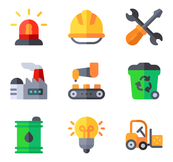 building icon packs. Factory clipart industry profile