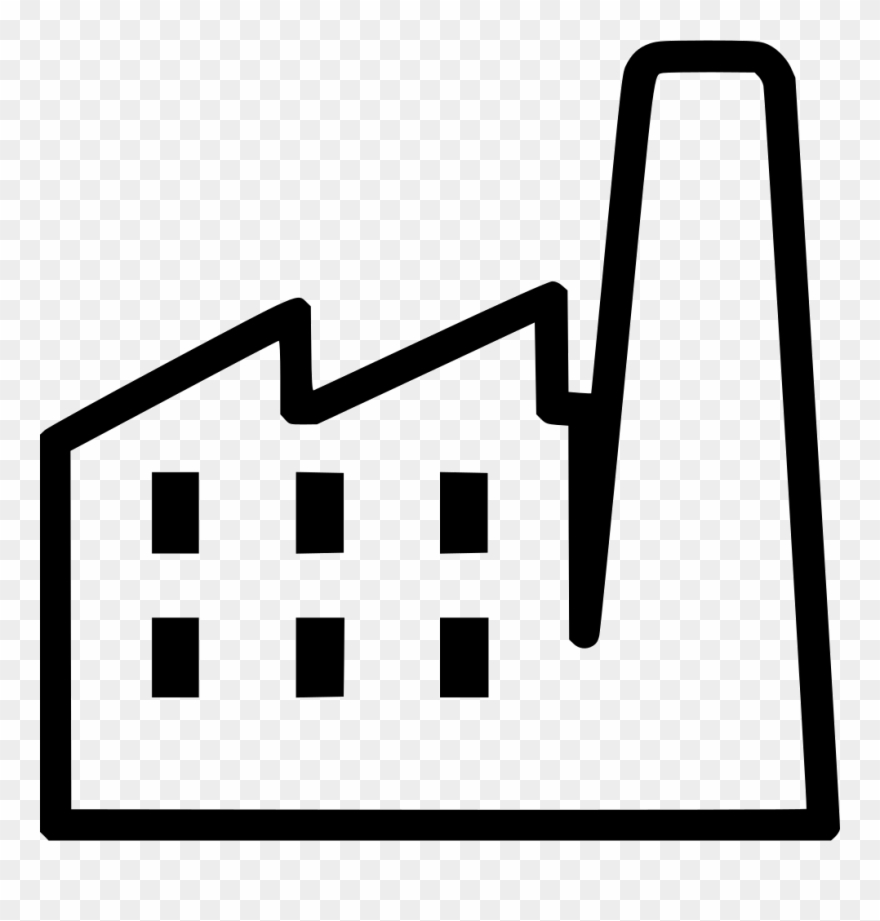 Factories clipart svg. Png file white factory