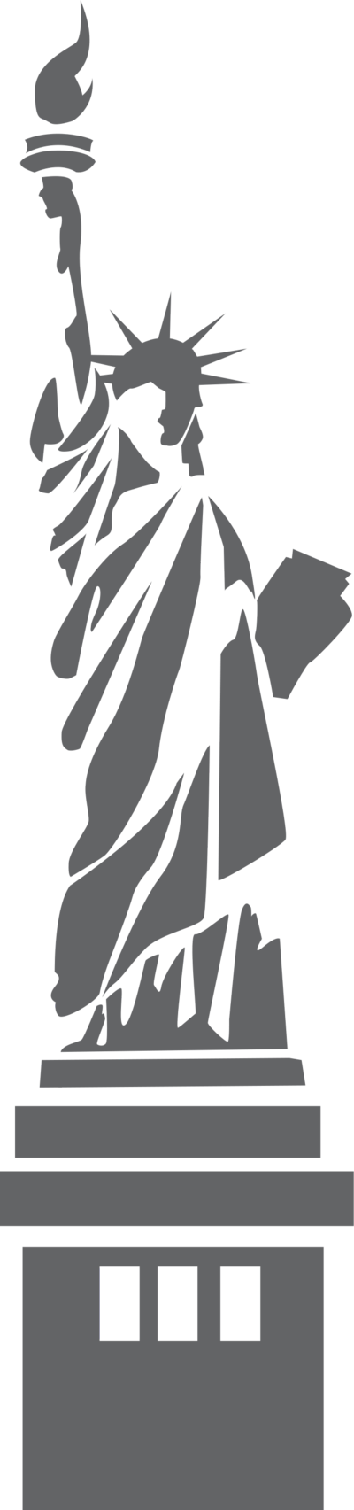 Illustration of the statue. Factory clipart transparent background