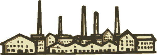 Free old factory clip. Factories clipart vector