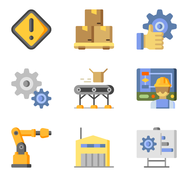 Factory clipart factory production.  manufacturing icon packs