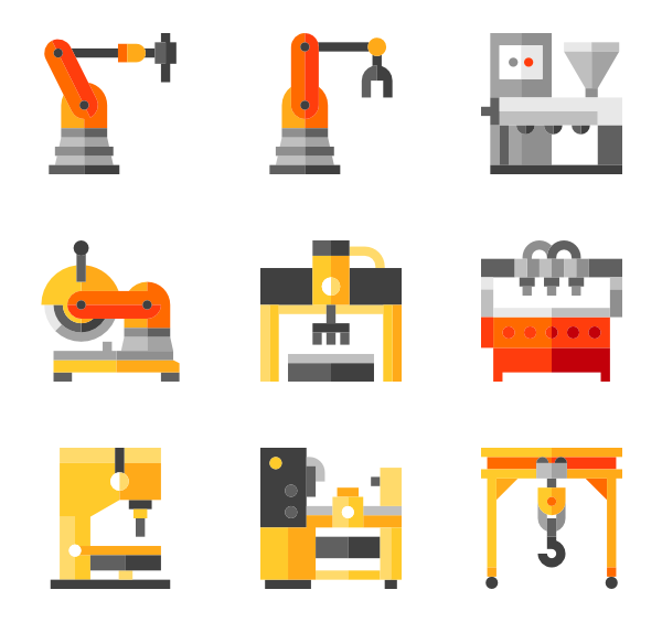 Factories clipart vector.  machinery icon packs