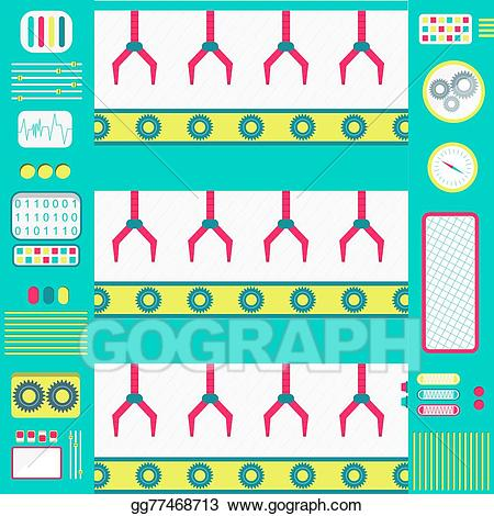 Vector art drawing gg. Factory clipart colorful