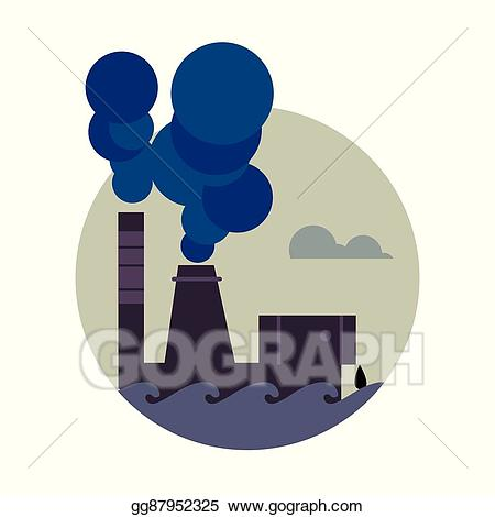 Eps illustration air pollution. Factory clipart contamination