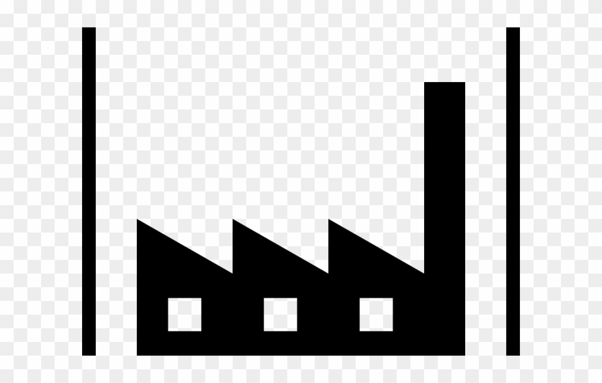 Industrial symbol monochrome png. Factory clipart cute