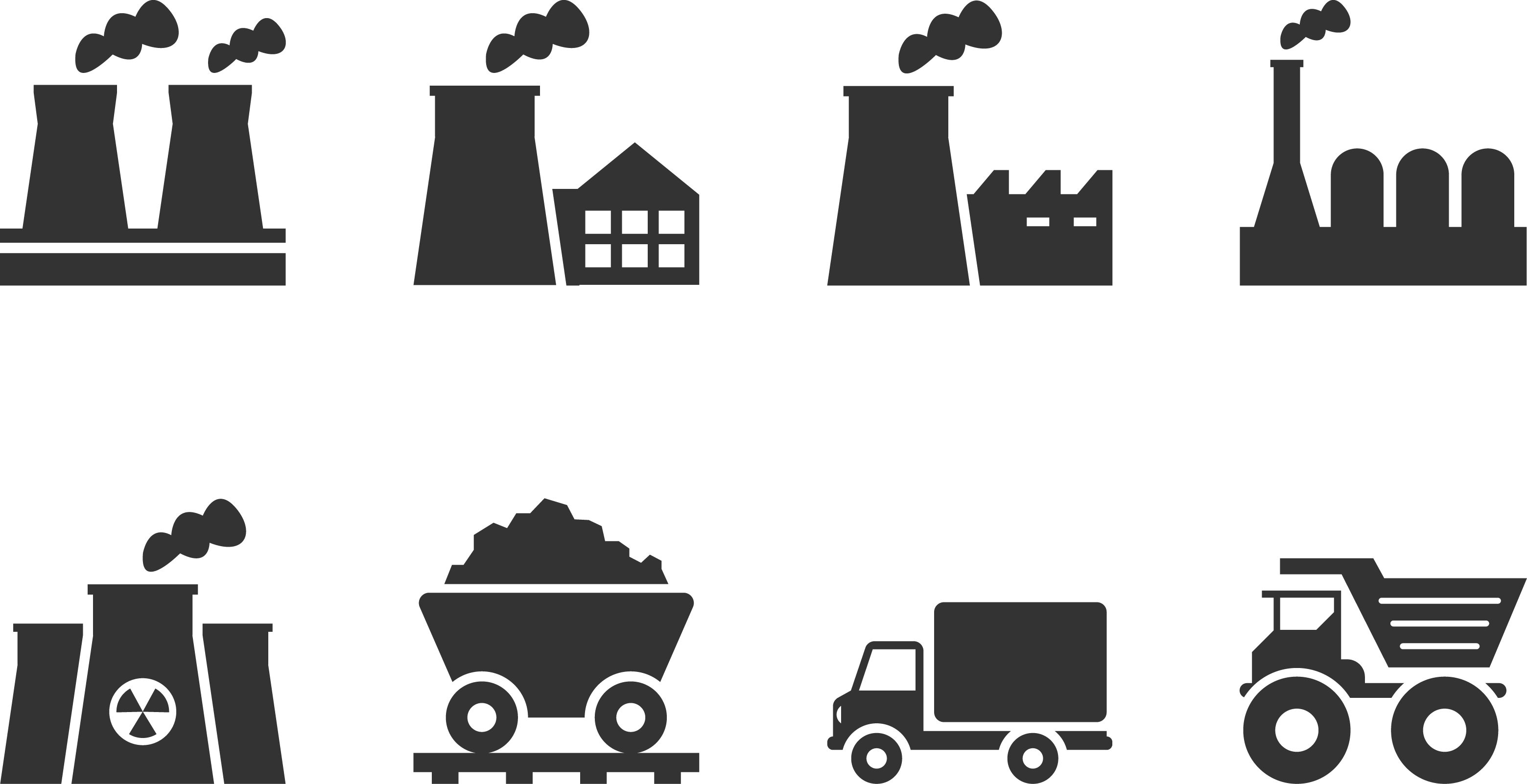 Black chimney car. Industry clipart factory icon