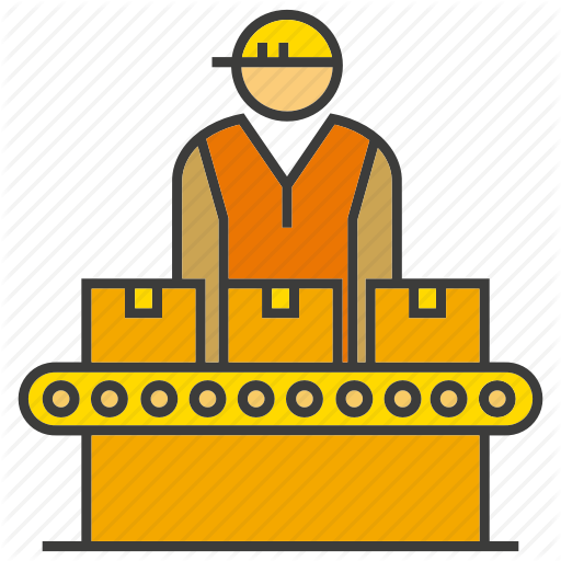 Factory clipart factory operator.  construction project part