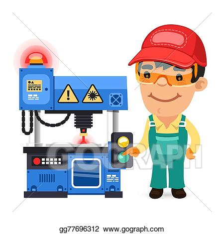 Factory clipart factory operator. Eps illustration worker is