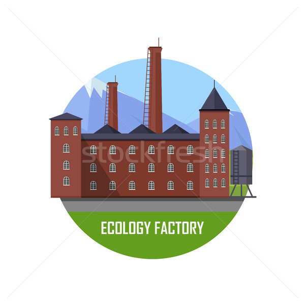 Factory clipart factory production. Download ecology