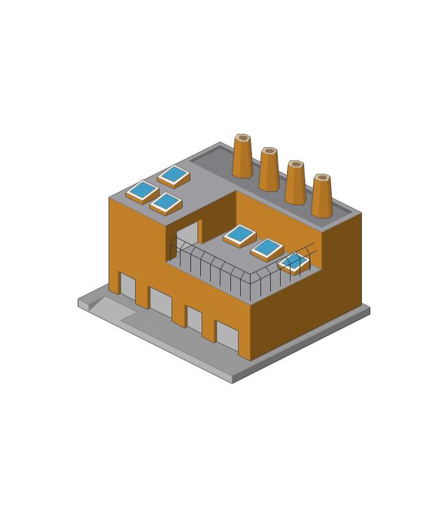 Factory clipart factory warehouse. Cartoon building diagram