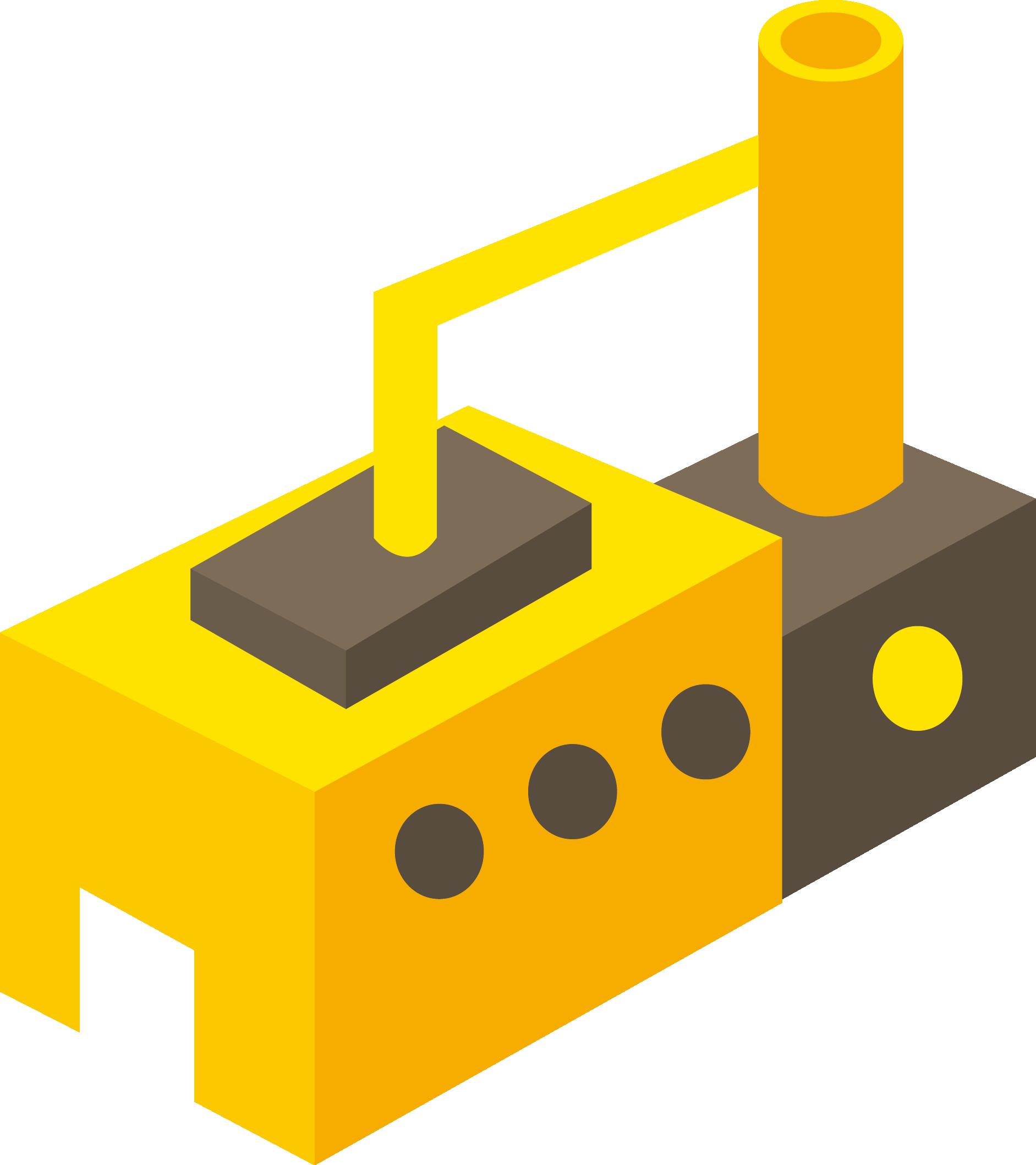 Building icon brick design. Factory clipart factory warehouse