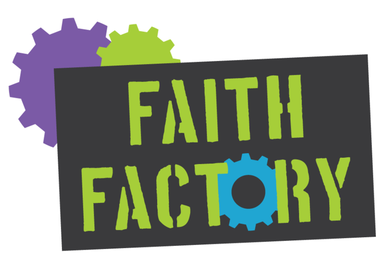 Faith logo and identity. Factory clipart green factory