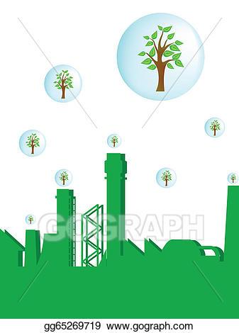 Factory clipart green factory. Vector art drawing gg