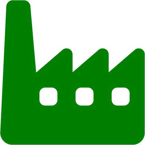 Icon free icons . Factory clipart green factory