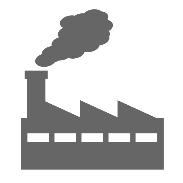 Factory clipart industrial area. Free icon material