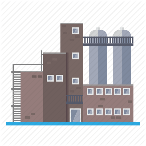 Real background building . Factory clipart industrial estate