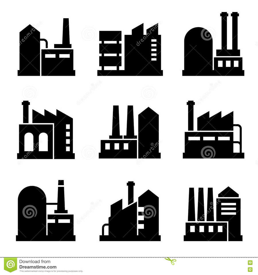 Download building icons oil. Factory clipart industrial product