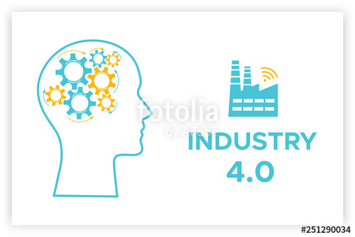 Factory clipart industry profile. Head revolution concept vector
