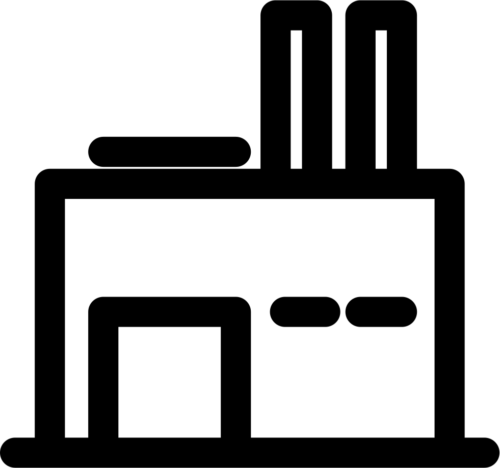 Industrial factory svg png. Factories clipart laboratory building