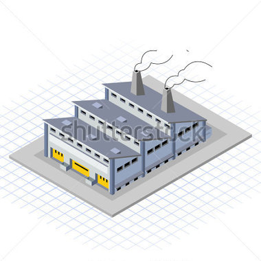 Factory clipart model. Building clip art library