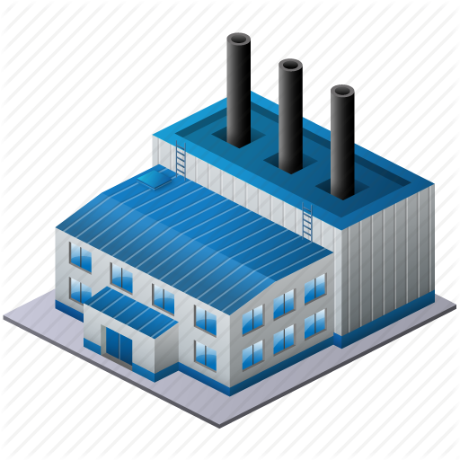 Factory clipart model. Building background technology