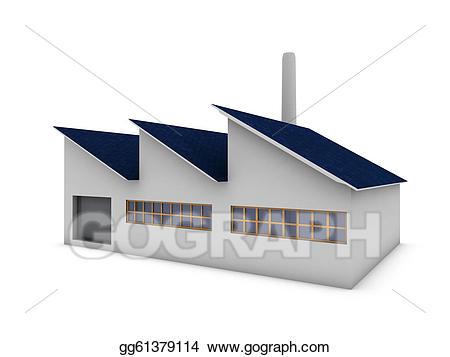 Stock illustration gg . Factory clipart modern factory