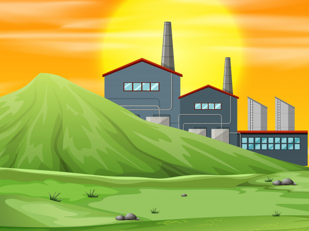 A in scene free. Factory clipart nature