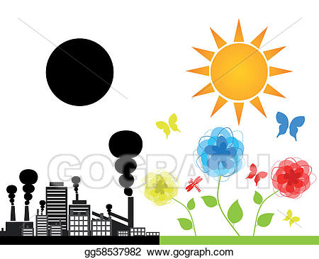 Factory clipart nature. Vector art and the