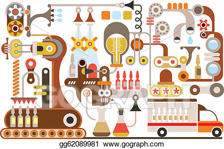 Factory clipart pharma. Clip art vector pharmaceutical