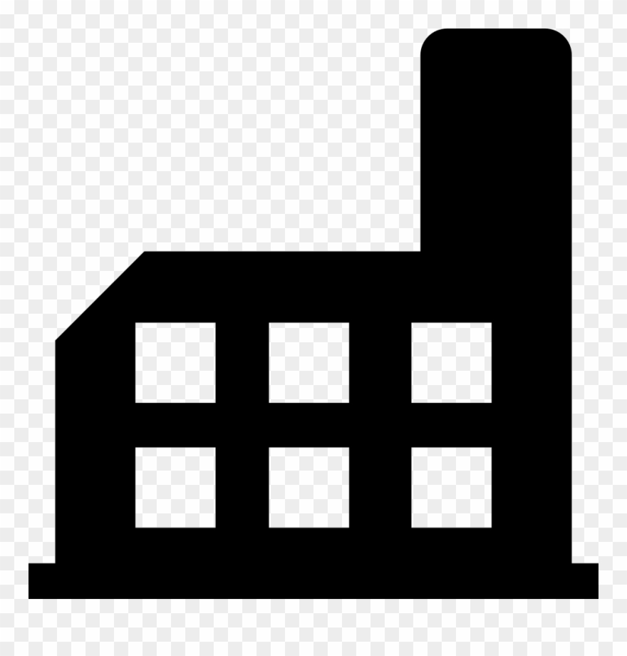 Factory clipart svg. Building silhouette png icon