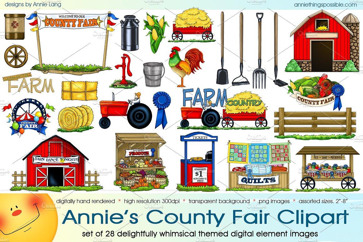 Fair clipart. Annie s county illustrations
