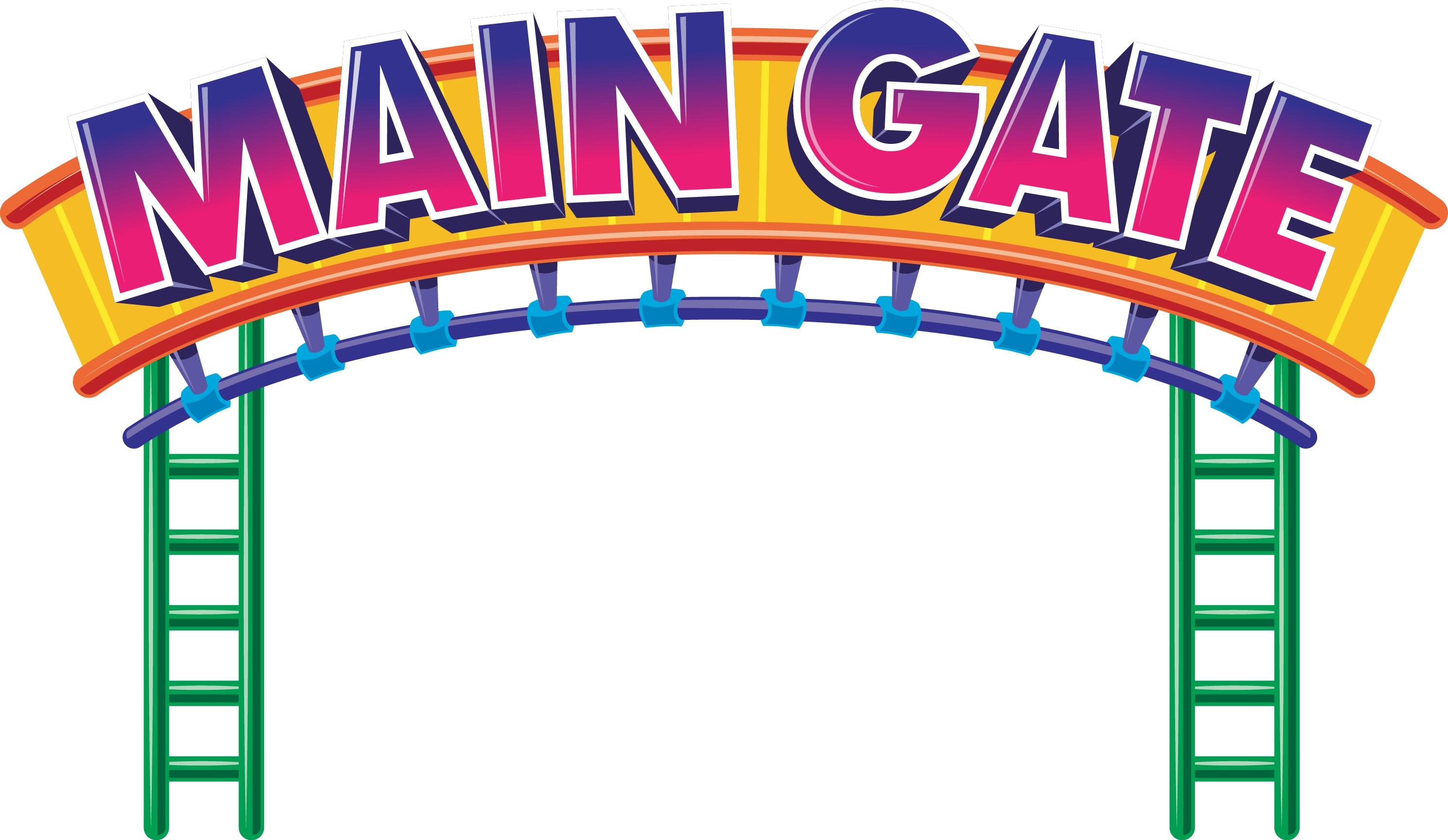 Amusement park . Fair clipart entrance