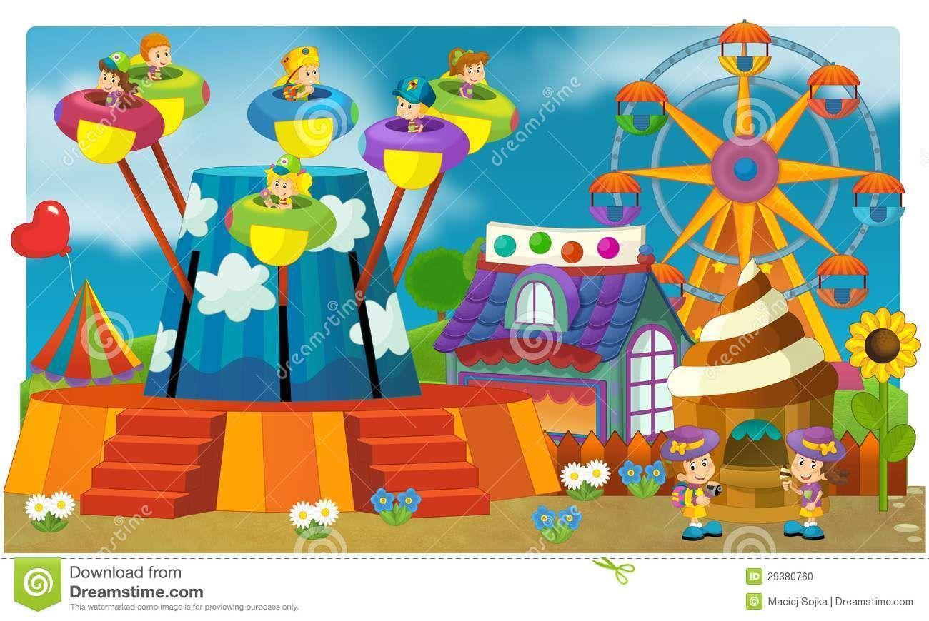 Fair clipart fairground. Funfair drawing for kids