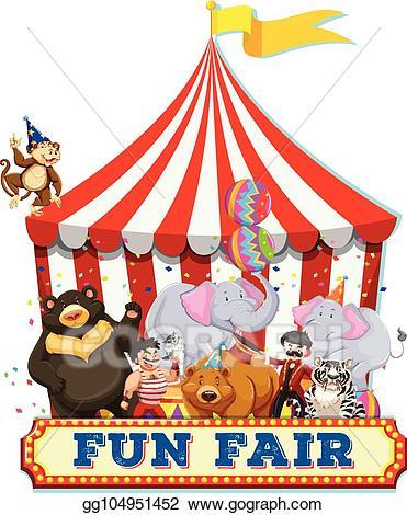 Fair clipart funfair. Eps illustration a fun