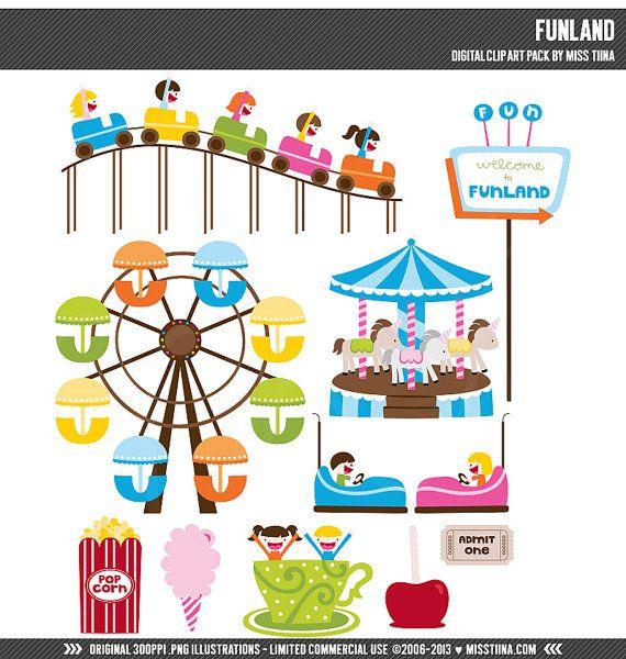 Fair clipart funland. Digital clip art illustrations