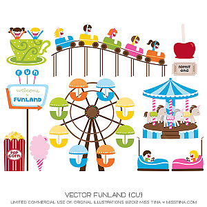 Amusement park digital . Fair clipart funland