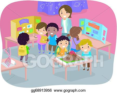 Fair clipart kid fair. Vector illustration science kids