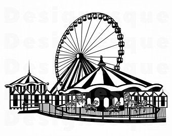 Amusement svg etsy . Fair clipart theme park