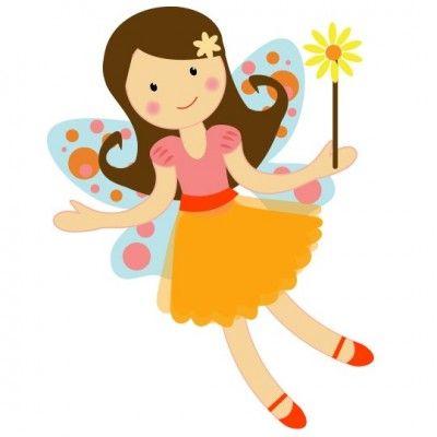Pretty garden fairy illustration. Fairies clipart