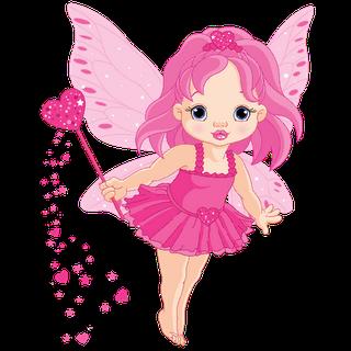 Cartoon clip art . Fairies clipart baby fairy