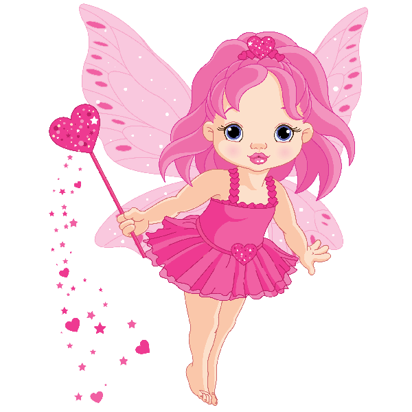 Winter clipart fairy. Cute pink png fairies