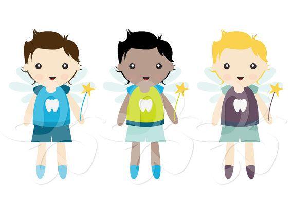 Little tooth fairy boys. Fairies clipart boy
