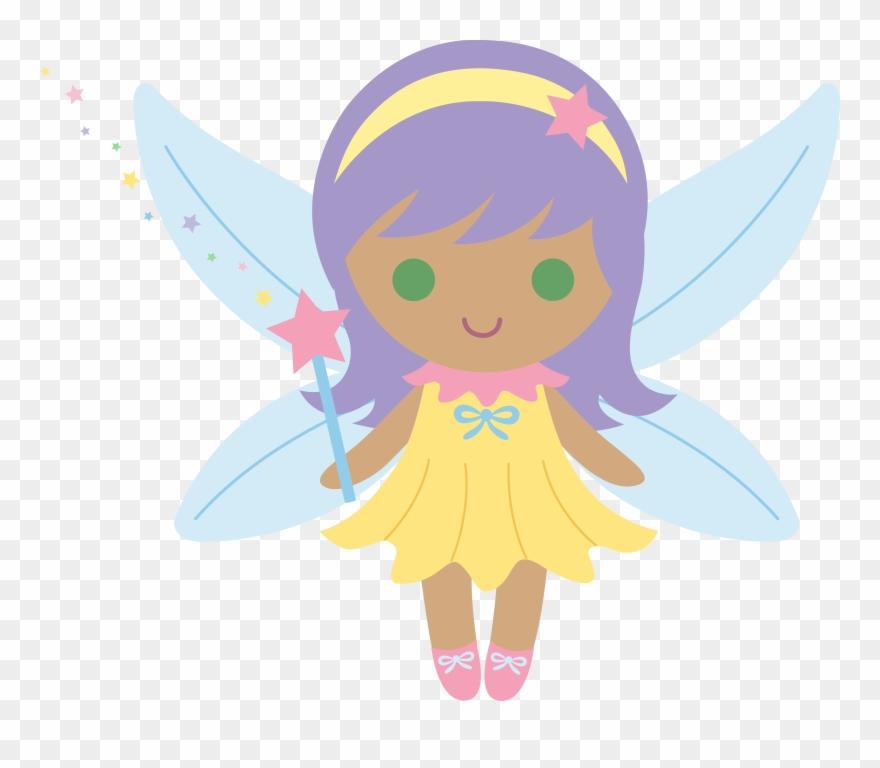 Little with purple hair. Fairy clipart animated