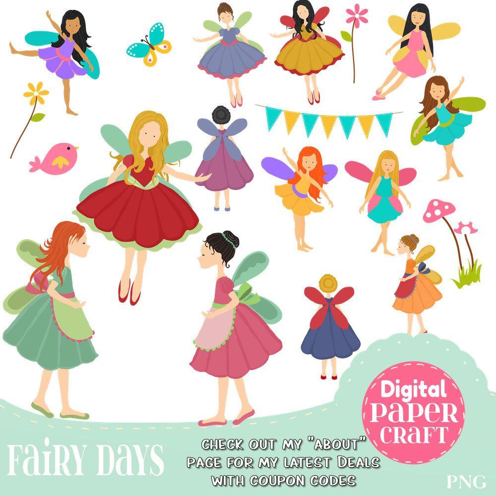 Fairy clipart childrens. Children flower fantasy
