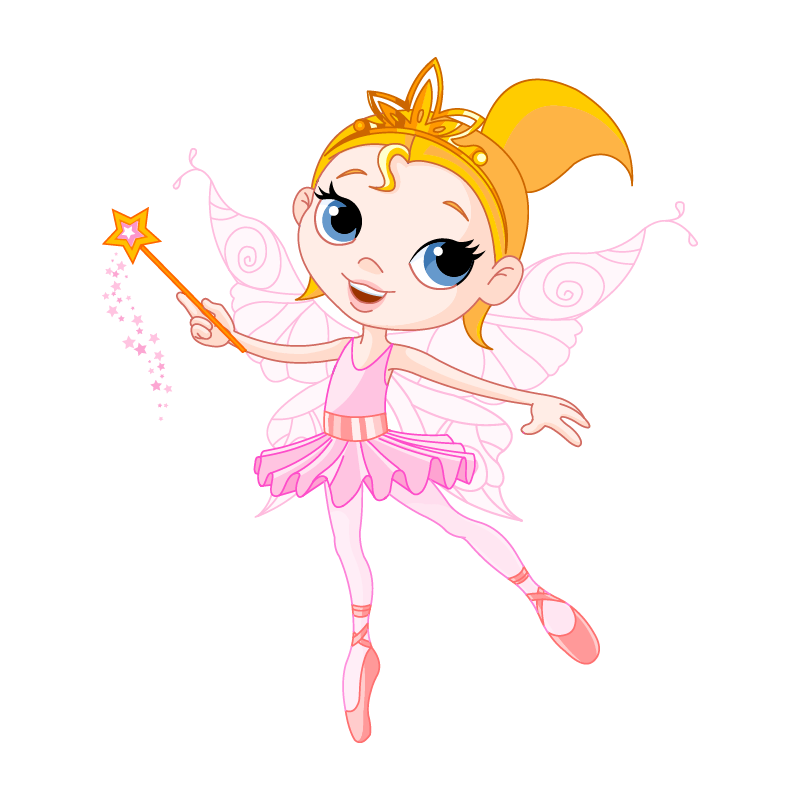Fairies clipart childrens. Young fairy stickers wand