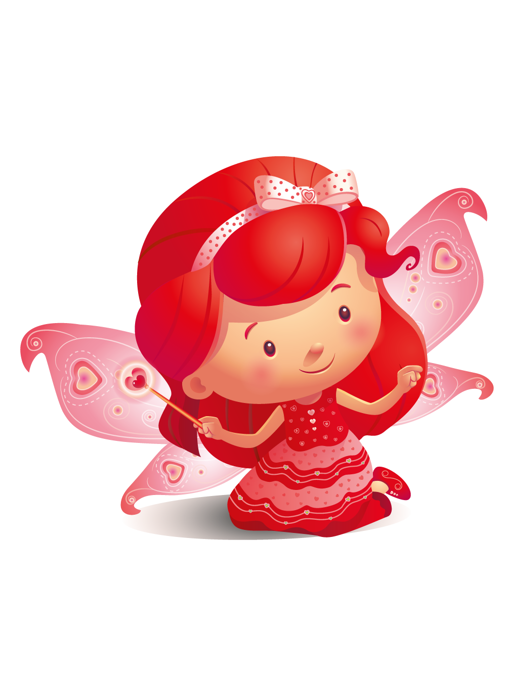 Colour fairies ruby red. Gnome clipart color