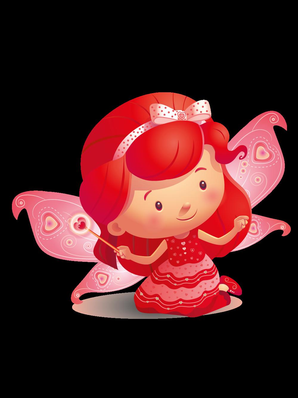 Fairy clipart colourful. Colour fairies ruby red