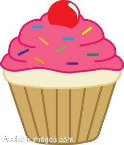 Muffin clipart cartoon. Cute cupcakes cupcake