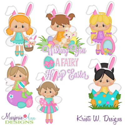 Fairies clipart easter. Svg cutting files includes