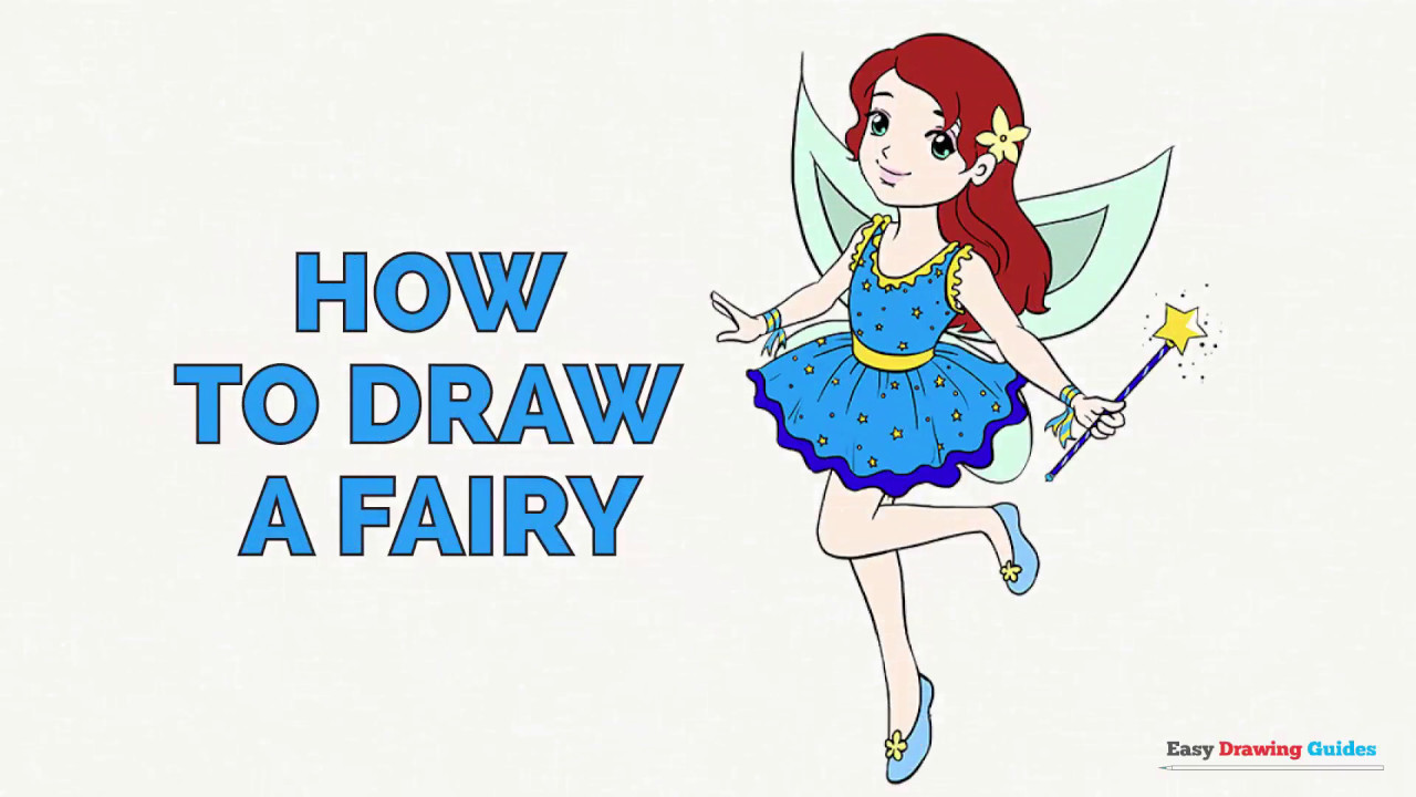 How to draw a. Fairies clipart easy